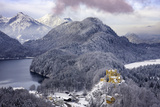 Hohenschwangau Castle and the Mountains of Bavaria Near Schwangau, Germany Photographic Print by Brian Jannsen