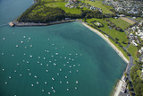 Yachts at Okahu Bay, and Bastion Point, Auckland, North Island, New Zealand Photographic Print by David Wall