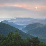 Sunrise over Pisgah National Forest from Blue Ridge Parkway, North Carolina, Usa Photographic Print by Tim Fitzharris