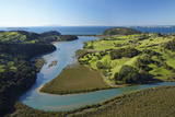 Puhoi River, North Auckland, North Island, New Zealand Photographic Print by David Wall