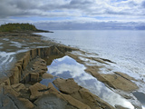 Waterscape of Lake Superior at Artists Point Grand Marais, Minnesota Photographic Print by Tim Fitzharris