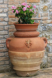 Flower Pots as Decoration. Tuscany, Italy Photographic Print by Tom Norring