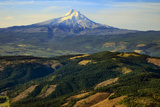 Oregon, Hood River, Aerial Landscape of Mt. Hood Photographic Print by Rick A. Brown