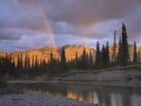 Rainbow over Fairholme Range and Exshaw Creek, Alberta, Canada Photographic Print by Tim Fitzharris