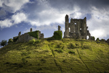 Ruins of Corfe Castle Near Wareham, Isle of Purbeck, Dorset, England Photographic Print by Brian Jannsen