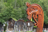Unesco World Heritage Site. Viking Ship Replica. Geiranger, Norway Photographic Print by Tom Norring