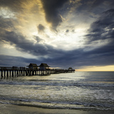 Evening over the Naples Pier and Gulf of Mexico, Naples, Florida, Usa Photographic Print by Brian Jannsen