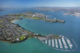 Bayswater Marina, Waitemata Harbour, Auckland, North Island, New Zealand Photographic Print by David Wall