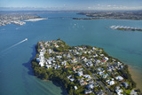 Stanley Point, Waitemata Harbour, and Auckland Harbour Bridge, Auckland, North Island, New Zealand Photographic Print by David Wall