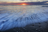 Sunrise over the North Atlantic Ocean at Jokulsarlon, Iceland Photographic Print by Chuck Haney