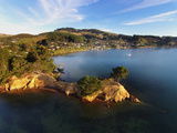 Yellow Point, Broad Bay and Otago Peninsula, Dunedin, South Island, New Zealand Photographic Print by David Wall