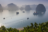 Vietnam, Halong Bay, Tito Island, Elevated View of Halong Bay Photographic Print by Walter Bibikow
