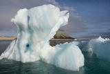 Norway, Barents Sea, Palander Bay, Zeipelodden. Large Iceberg in Palander Bay Fotografisk tryk af Cindy Miller Hopkins