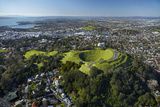 Volcanic Crater, Mt. Eden Domain, Auckland, North Island, New Zealand Photographic Print by David Wall
