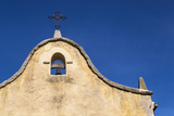 Italy, Sardinia, Gavoi. the Bell and Cross of an Old Church, Backed by a Blue Sky Photographic Print by Alida Latham