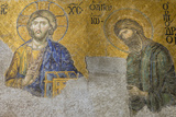 Christian Wall Mosaic. Hagia Sophia. Istanbul. Turkey Photographic Print by Tom Norring