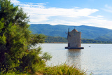 The Spanish Windmill on the Lagoon of Orbetello, Orbetello, Grosseto Province, Tuscany, Italy Photographic Print by Nico Tondini