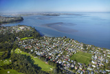 Titirangi Golf Course, Green Bay, and Manukau Harbour, Auckland, North Island, New Zealand Photographic Print by David Wall