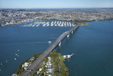 Auckland Harbour Bridge and Waitemata Harbour, Auckland, North Island, New Zealand Photographic Print by David Wall