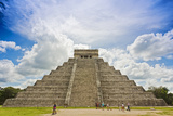 Mexico, Chichen Itza. the North Side and Main Stairway of the Main Pyramid Photographic Print by David Slater