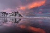 Vestrahorn Mountain in Winter Near Hofn, Iceland Stampa fotografica di Chuck Haney