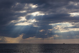 A Fishing Trawler under Storm Clouds at Duck Harbor Beach in Wellfleet, Massachusetts. Cape Cod Photographic Print by Jerry and Marcy Monkman