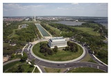 Aerial of Mall showing Lincoln Memorial, Washington Monument and the U.S. Capitol, Washington, D.C. Prints by Carol Highsmith