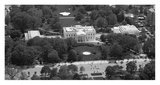 Aerial view of the White House, Washington, D.C. - Black and White Variant Print by Carol Highsmith