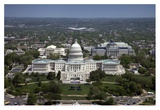 Aerial view, United States Capitol building, Washington, D.C. Prints by Carol Highsmith