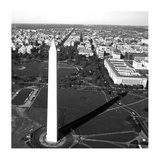 Aerial view of the Washington Monument, Washington, D.C. - Black and White Variant Poster by Carol Highsmith
