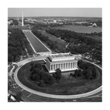 Aerial of Mall showing Lincoln Memorial, Washington Monument and the U.S. Capitol, Washington, D.C. Poster by Carol Highsmith