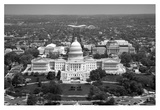 Aerial view, United States Capitol building, Washington, D.C. - Black and White Variant Prints by Carol Highsmith
