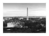 Dawn over the White House, Washington Monument, and Jefferson Memorial, Washington, D.C. - Black an Posters by Carol Highsmith