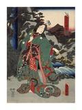 Costumes in Five Different Colors - Green (Ao) Prints by Utagawa Kunisada (Toyokuni III)