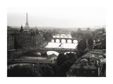 Bridges over the Seine river, Paris Posters by Michel Setboun