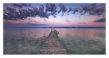 Boat ramp and filigree clouds, Bavaria, Germany Posters by Frank Krahmer