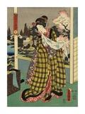 Costumes in Five Different Colors - Yellow (Ki) Posters by Utagawa Kunisada (Toyokuni III)