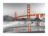Baker beach and Golden Gate Bridge, San Francisco Poster by  Anonymous