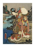 Costumes in Five Different Colors - Red (Aka) Posters by Utagawa Kunisada (Toyokuni III)