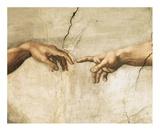 Creation of Adam (detail) Prints by  Michelangelo