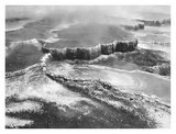 Aerial view of Jupiter Terrace, Yellowstone National Park, Wyoming ca. 1941-1942 Prints by Ansel Adams