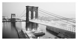 Brooklyn Bridge from Manhattan side, NYC Print by  Anonymous