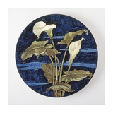 Charger - Calla Lily Pattern Posters by Unknown 19th Century American Artisan