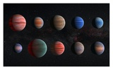 Artist Impression of Hot Jupiter Exoplanets - Unannotated Posters