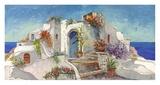 Casa nelle Cicladi Art by Luigi Florio
