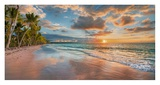 Beach in Maui, Hawaii, at sunset Prints by  Pangea Images