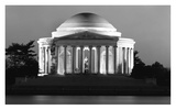 Jefferson Memorial, Washington, D.C. - Black and White Variant Print by Carol Highsmith