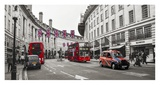 Buses and taxis in Oxford Street, London Pôsters por  Pangea Images