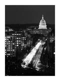 Dusk view of Pennsylvania Avenue, America's Main Street in Washington, D.C. - Black and White Varia Prints by Carol Highsmith