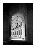 Arched architectural detail in the Federal Triangle located in Washington, D.C. - Black and White V Posters by Carol Highsmith